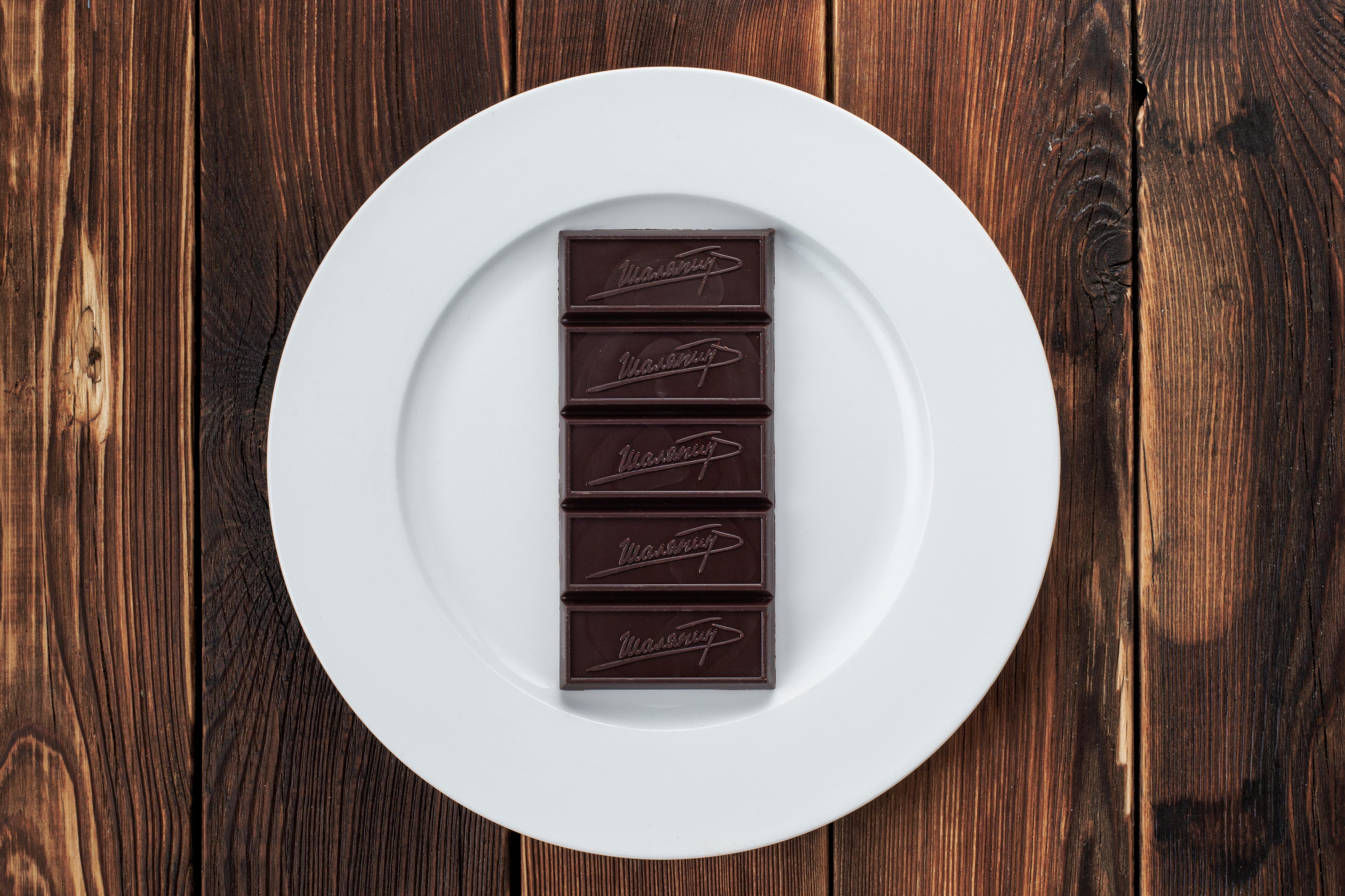 Горький шоколад ручной работы (100 г)